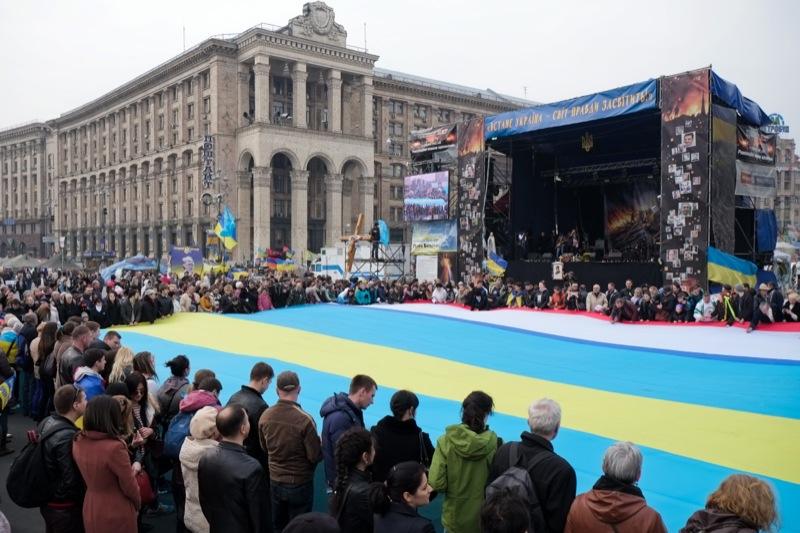 Мітинг на підтримку цілісності України пройшов на Майдані. Фото: Велика Епоха