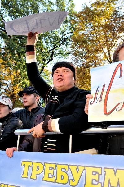 Акция предпринимателей Обещание правительства - лапша на ушах состоялась в Киеве 23 сентября 2010 года возле здания Верховной Рады. Фото: Владимир Бородин/The Epoch Times
