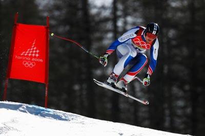 Антоін Денеріз із Франції у Фіналі змагань зі швидкісного спуску на лижах. Фото: Clive Mason/Getty Images