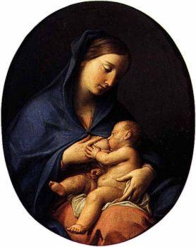 Помпео Батони. Мадонна, кормящая Младенца.  Музей искусства Сан-Паулу, Бразилия
