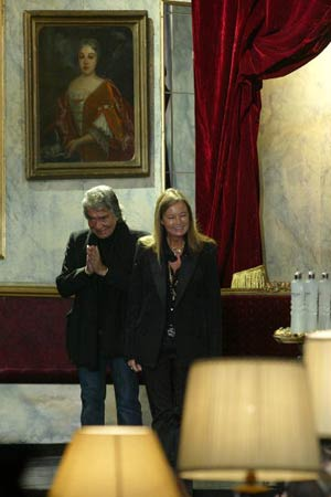 Модельєр Роберто Каваллі та його дружина Єва. Фото: GIUSEPPE CACACE/AFP/Getty Images