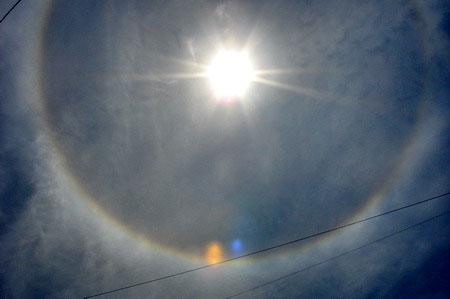 Радуга вокруг солнца. Фото: Иван Поляков/Великая Эпоха