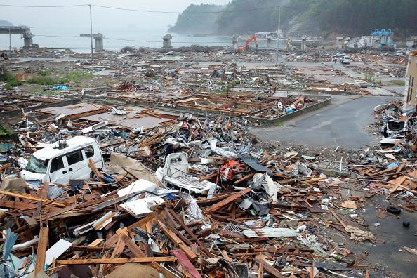Обломки в г. Минамисанрику, префектура Мияги. Фото: Kiyoshi Ota/Getty Images