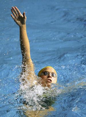 Австралійський спортсмен Libby Lenton під час чемпіонату світу з водних видів спорту в Мельбурні. Фото: Cameron Spencer/Getty Images