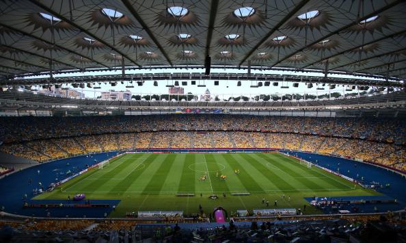 Олімпійський стадіон в Києві перед матчем Україна — Щвеція, 11 червня. Фото: Martin Rose/Getty Images