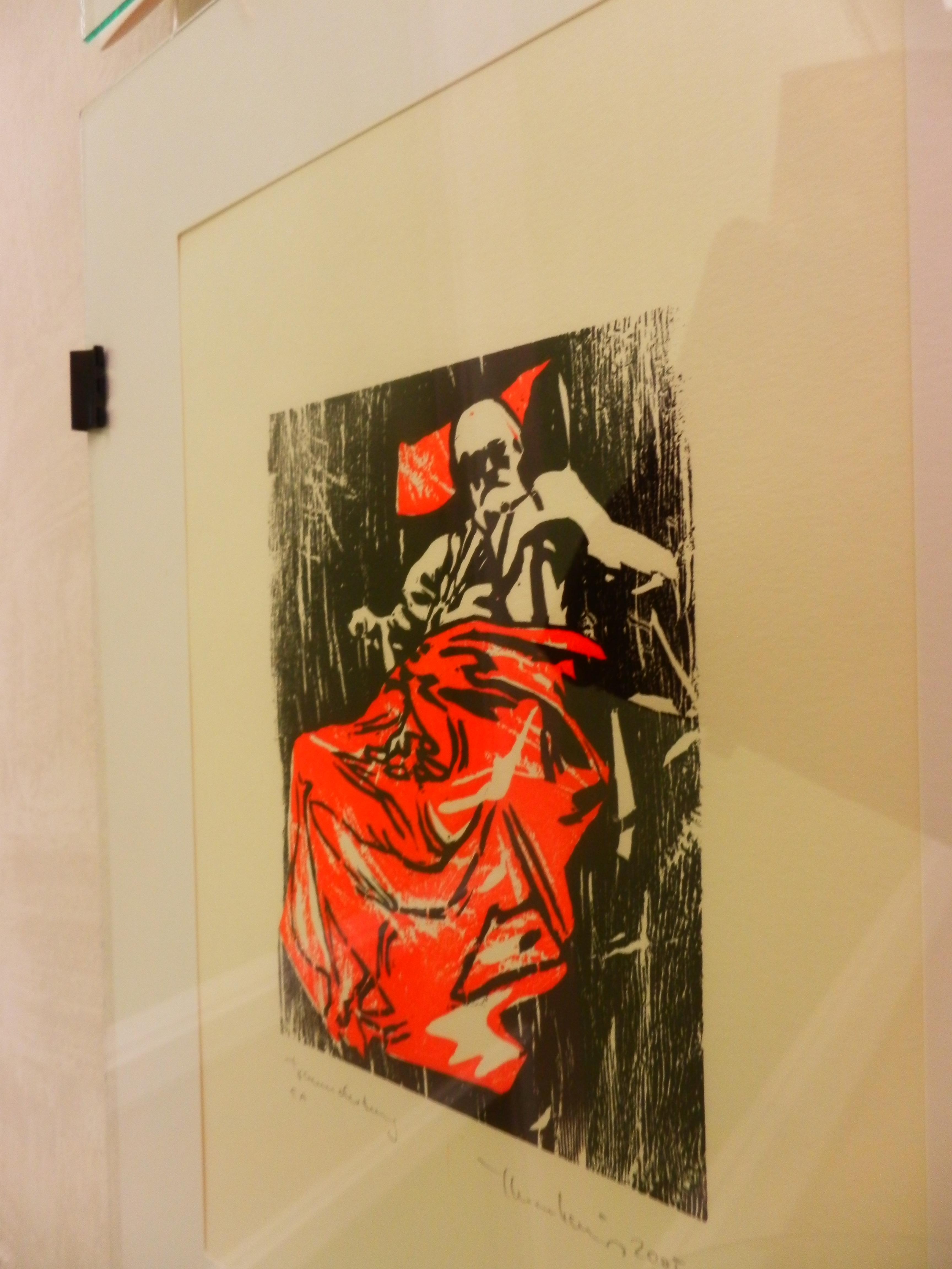 Галерея Гері Боумена. Види з виставки австрійського митця Крістіана Тангойзера «Дереворити, інспіровані літературою: краєвиди і портрети».
