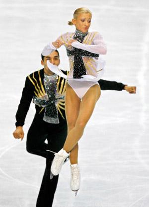 Німецька пара Robin Szolkowy і Aliona Savchenko на чемпіонаті світу з фігурного катання. Фото: TORU YAMANAKA/AFP/Getty Images