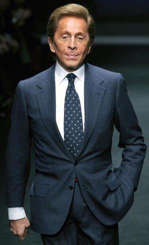 Всесвітньовідомий італійський модельєр Валентіно. Фото: GIUSEPPE CACACE/AFP/Getty Images
