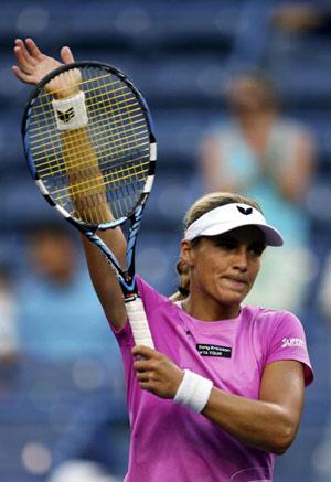 Сибіла Баммер (Sybille Bammer) з Австрії під час турніру. Фото: Matthew Stockman/Getty Images