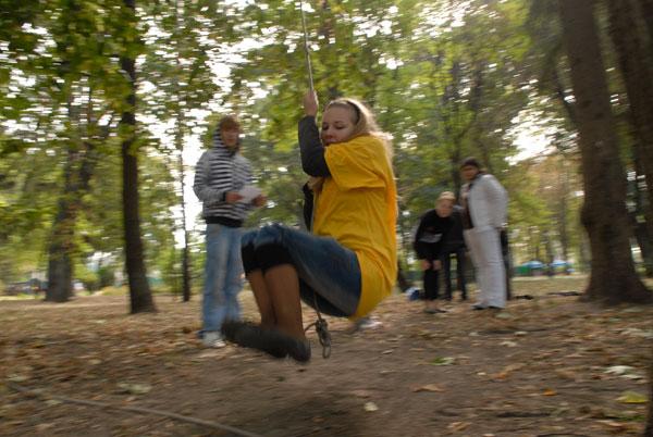 Скауты разбили лагерь в Мариинском парке. Фото: Владимир Бородин/The Epoch Times