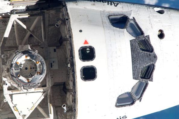 Стыковочный узел шаттла «Атлантис». Фото: NASA via Getty Images