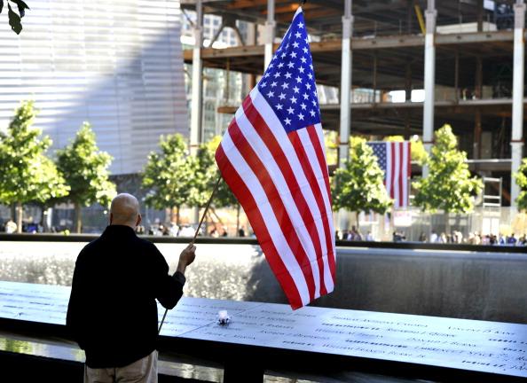 Американцы почтили память жертв «11 сентября». Нью-Йорк. Фото: Timothy A. Clary-Pool/Getty Images