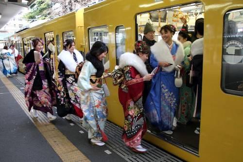 В Японии отметили день совершеннолетия. Фото:  Koichi Kamoshida/Getty Images