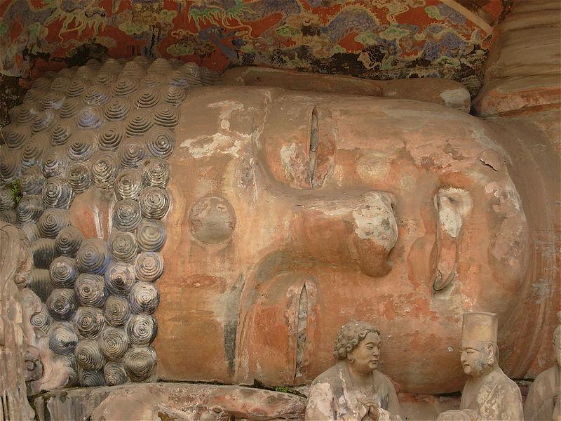 Фрагмент скульптурной композиции «Нирвана Шакьямуни». Баодиншань, Дацзу. Фото: David Barrie/commons.wikimedia.org