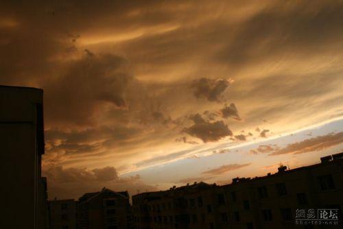 Необычные облака в городе Цзиньчжоу провинции Ляонин. 24 июня 2009 год. Фото с secretchina.com