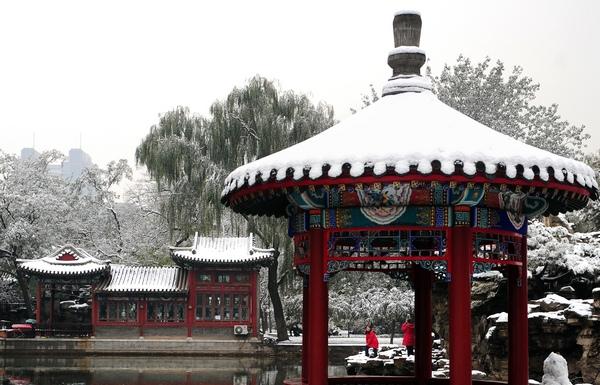 Сильний снігопад пройшов в Пекіні. Фото: AFP / Getty Images