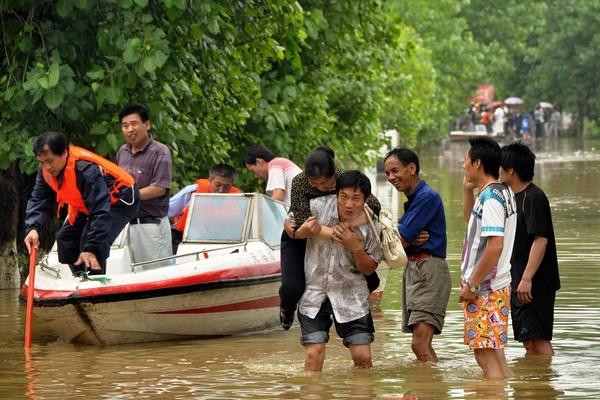 Пострадавшие от наводнений районы Китая. Фото: AFP