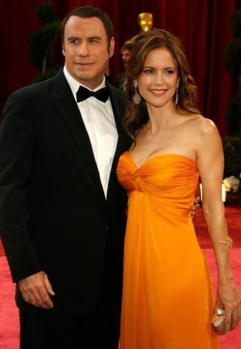 Актер Джон Траволта (John Travolta) и актриса Келли Престон (Kelly Preston) посетили церемонию вручения Премии Оскар в Голливуде Фото: Vince Bucci/Getty Images
