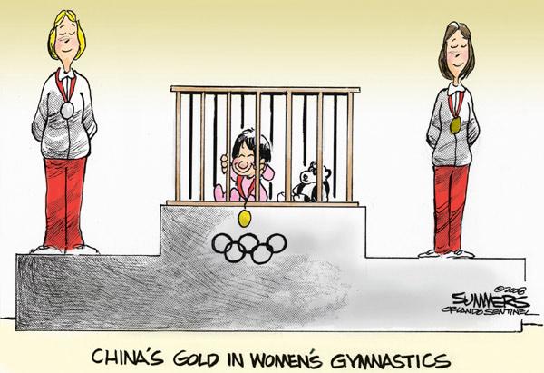 Китайское золото в женской гимнастике