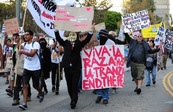Акція протесту під назвою «Захопи Уолл-стріт». Фото: FREDERIC J. BROWN/Getty Images