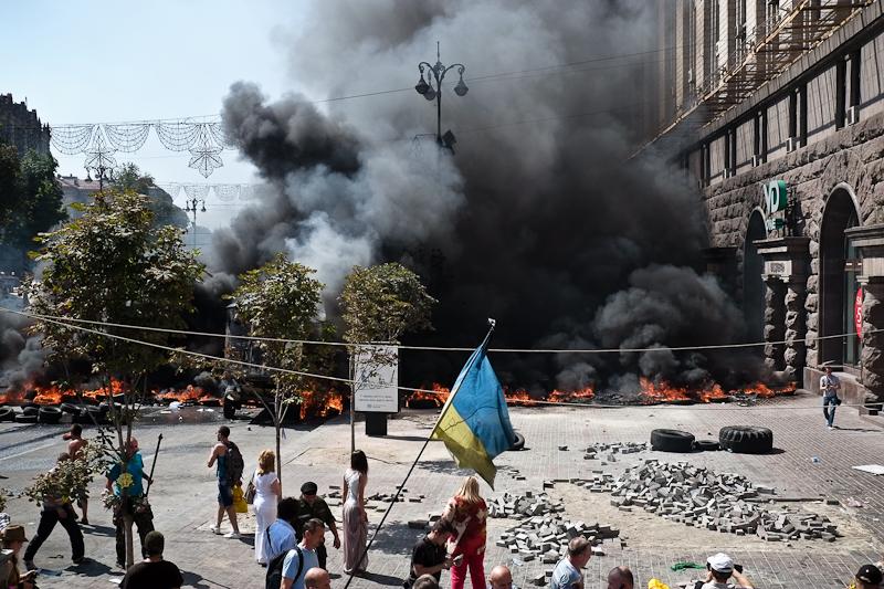 Події на Майдані 7 серпня 2014 року. Фото: Велика Епоха