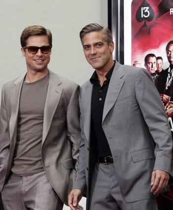 С Джорджем Клуни на премьере фильма «13 друзей Оушена» 5 июня 2007 года. Фото: GABRIEL BOUYS/AFP/Getty Images
