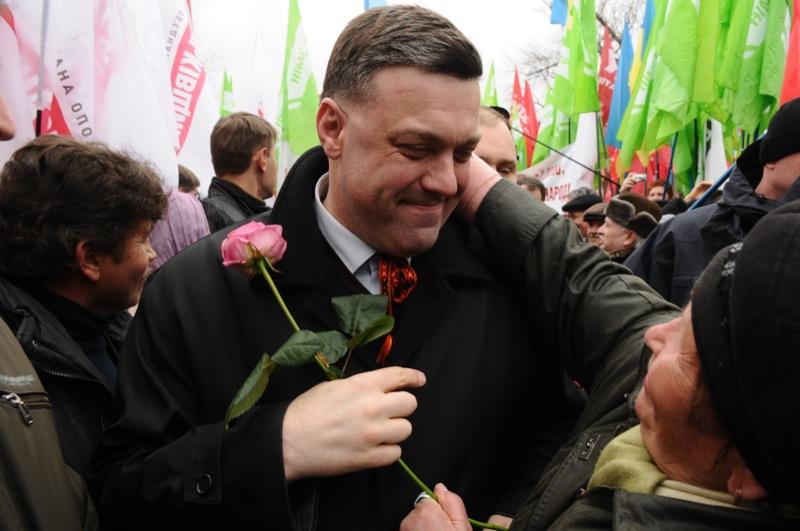 Митинг объединённой оппозиции в Киеве 7 апреля. Фото: Великая Эпоха