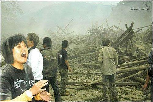 Перепуганные люди долго не могли прийти в себя от шока. Фото с aboluowang.com
