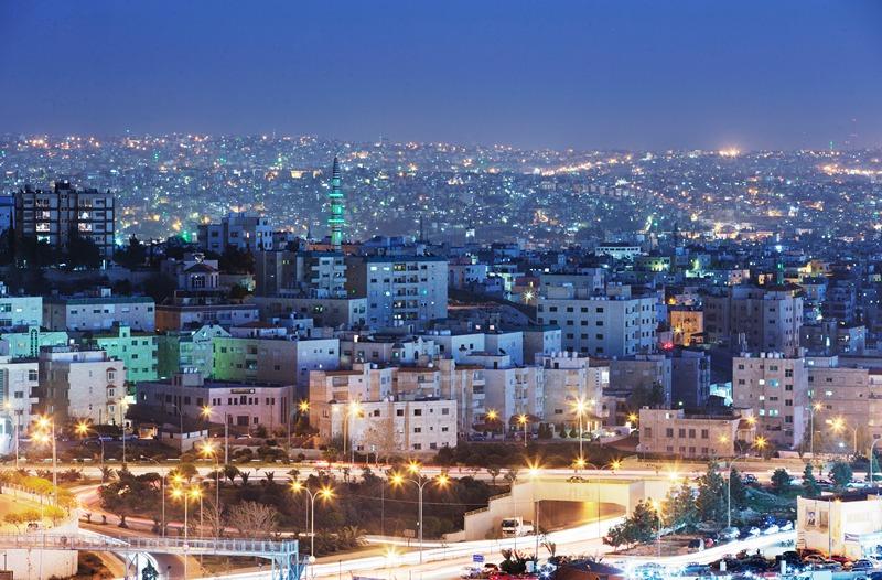 Столиця Йорданії, Амман. Вечірній вид на місто. Фото: Adam Pretty/Getty Images