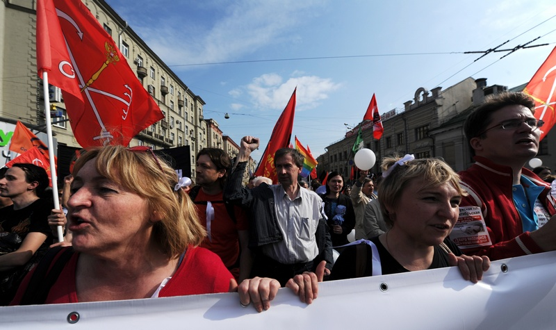 «Марш мільйонів» у Москві. Фото: OLGA MALTSEVA/AFP/GettyImages