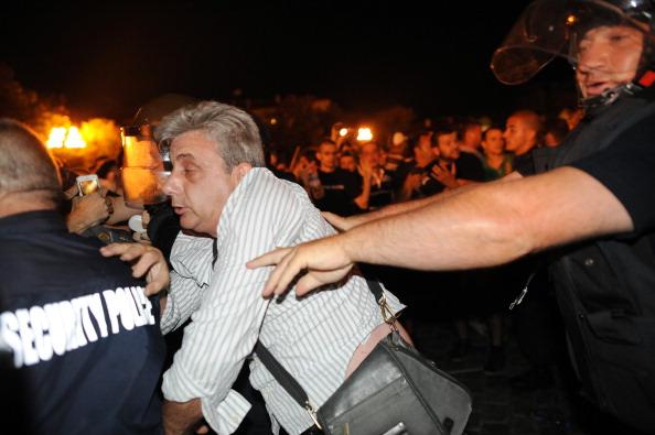 Ночная акция протеста в Софии, Болгария. Фото: DIMITAR DILKOFF/AFP/Getty Images