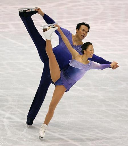 Китайська пара Xue Shen і Hongbo Zhao на чемпіонаті світу з фігурного катання. Фото: Koichi Kamoshida/Getty Images