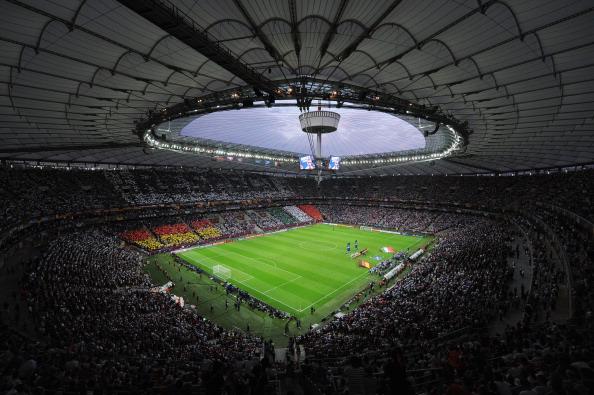 Полуфинальный матч Италия — Германия, 28июня на Национальном стадионе в Варшаве. Фото: Christopher Lee/Getty Images