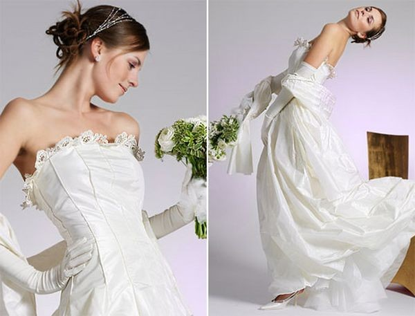 Элегантные свадебные платья. Модели 2008 г. Фото с efu.com.cn
