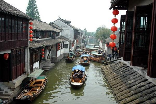 Селище на воді Чжоучжуан - «Китайська Венеція». Фото з snews.jschina.com.cn