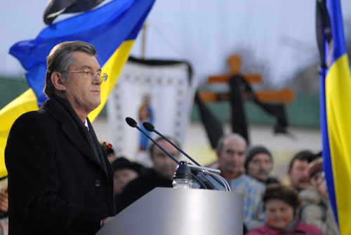 Речь Президента Украины на Михайловской площади. Фото: Владимир Бородин/ Великая Эпоха