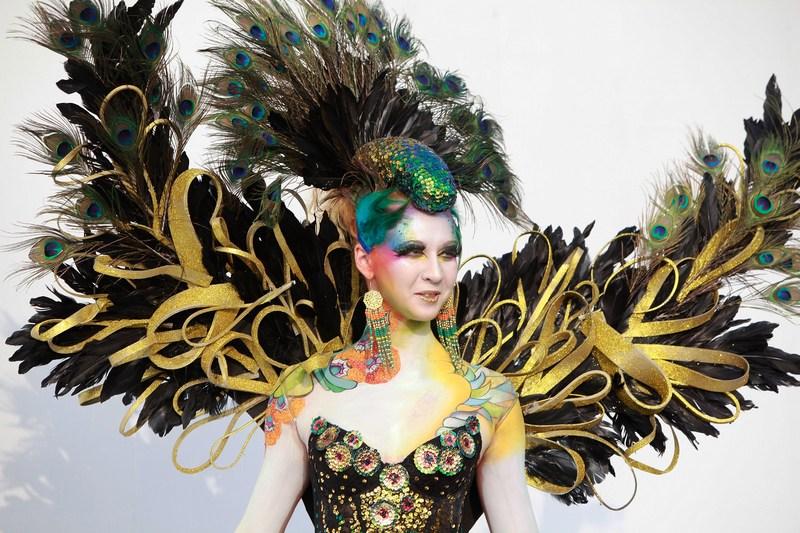 Тэгу, Южная Корея, 1 сентября. Модель демонстрирует работу художника на Международном фестивале росписи по телу. Фото: Chung Sung-Jun/Getty Images