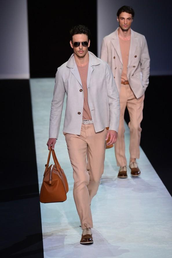 Весняно-літня колекція від Giorgio Armani на Міланському тижні чоловічої моди.Фото: GIUSEPPE CACACE/AFP/Getty Images