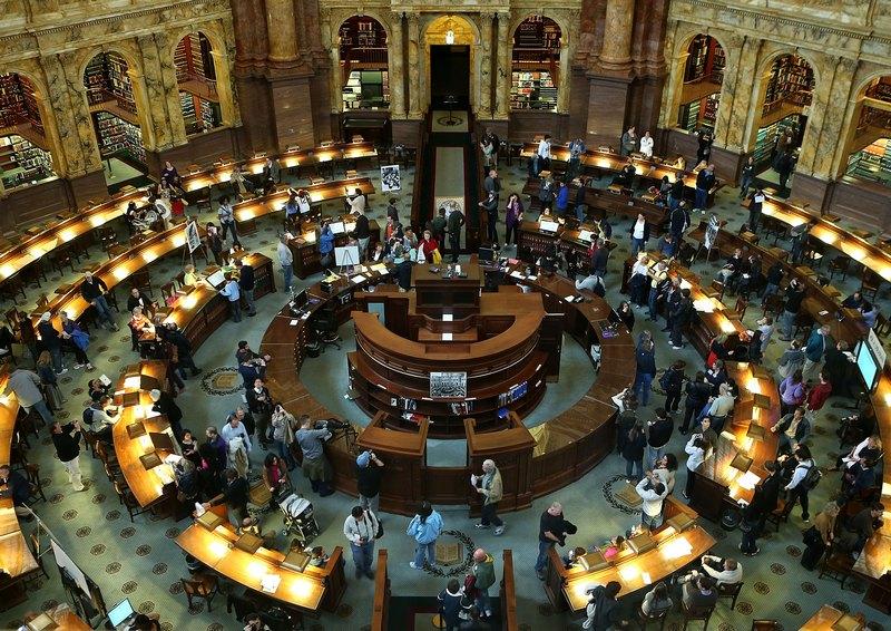 Вашингтон, США, 8 октября. В библиотеке Конгресса проводится «День открытых дверей». Фото: Alex Wong/Getty Images