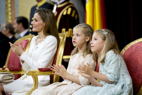 Королева Іспанії Летиція, принцеси Софія та Леонора. Фото: Juan Naharro Gimenez/Getty Images