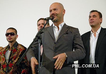 Російський актор, режисер і продюсер Федір Бондарчук під час презентації стрічки «Спека» в Києві 23 грудня 2006 р. Фото: http://phl.com.ua