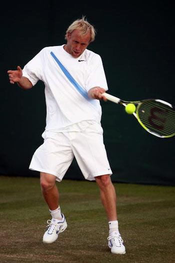 Лондон, Великобритания:  Stefan Koubek из Австрии во время Уимблдонского турнира. фото: Clive Brunskill/Getty Images