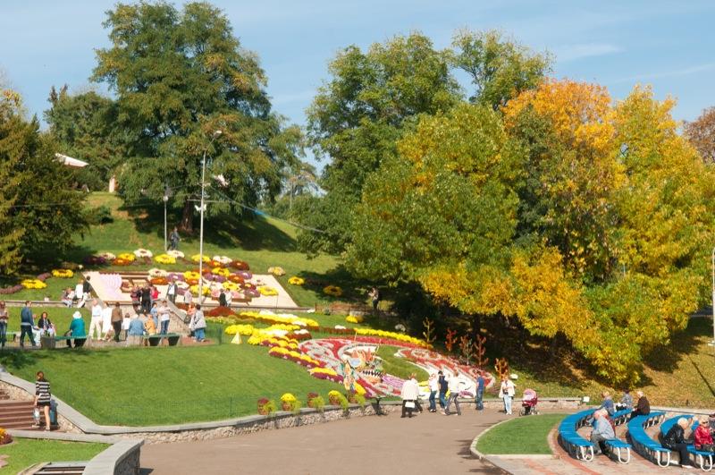 В Києві відкрилася виставка імператорських хризантем. Фото: Володимир Бородін/Велика Епоха