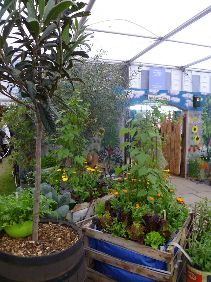 Взгляд в прошлое. «Сад на кухне» 1913-го года от компании «Pennard Plants» на выставке цветов в Челси. Фото: rhschelsea/facebook.com