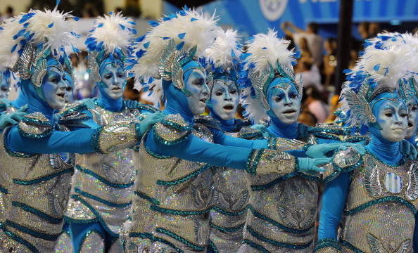 Рио-де-Жанейро: ежегодный самба фестиваль. Фото: ANTONIO SCORZA/AFP/Getty Images