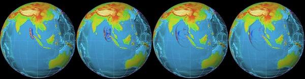 Западное побережье Северной Суматры, 2004. Иллюстрация: NOAA via Getty Images