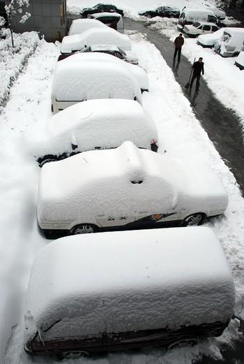 На севере Китая идут сильные снегопады. Фото с epochtimes.com