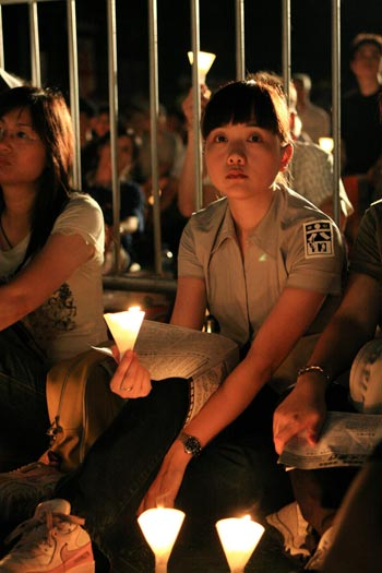 Участники митинга в Гонконге. Фото: Великая Эпоха
