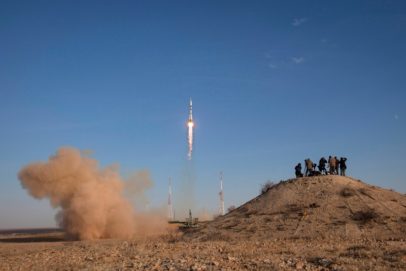 Байконур, Казахстан, 23 октября. Экспедиция 33/34 отправилась к МКС. Фото: Bill Ingalls/NASA via Getty Images
