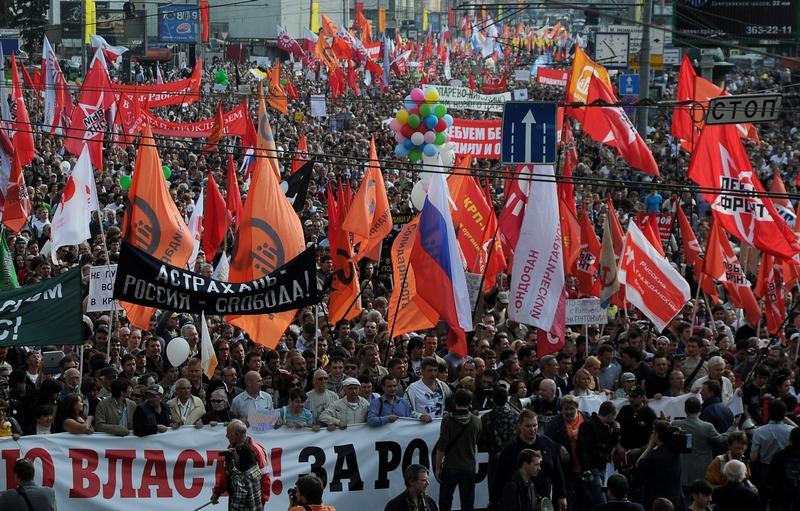 «Марш мільйонів» у Москві. Фото: ANDREY SMIRNOV/AFP/GettyImages